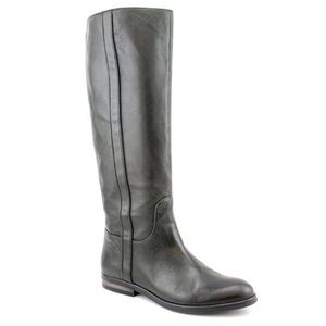 Coach Black Leather Taylor Tall Boots